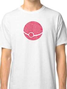 Typography Pokeball Classic T-Shirt