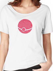 Typography Pokeball Women's Relaxed Fit T-Shirt