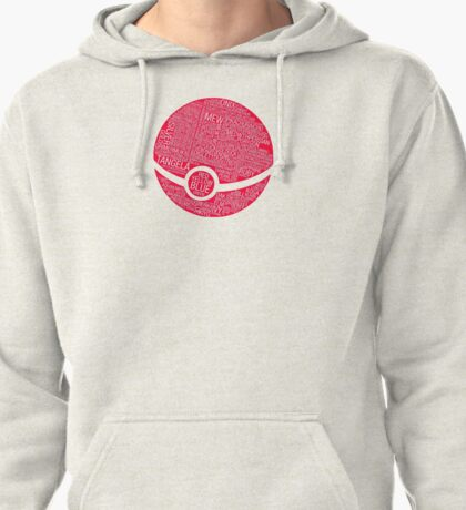 Typography Pokeball Pullover Hoodie