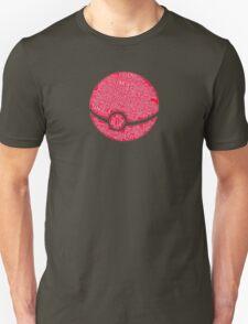 Typography Pokeball Unisex T-Shirt