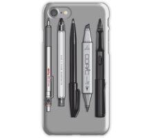 Pro Graphic Design Pens (Grey) iPhone Case/Skin