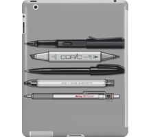 Pro Graphic Design Pens (Grey) iPad Case/Skin