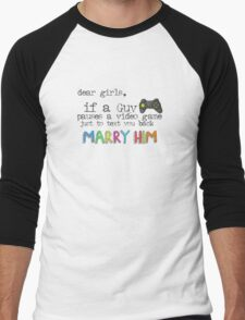 Marry Him Men's Baseball ¾ T-Shirt