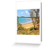 Peaceful Bay through the trees Greeting Card