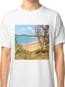 Peaceful Bay through the trees Classic T-Shirt