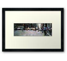 NEW YORK STREET Framed Print