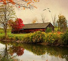 Autumn at the Canal Version II by janetlee