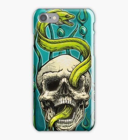 Old School Tattoo Skull and Moray iPhone Case/Skin