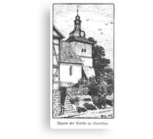 Georg Lilie Oberellen Kirche Canvas Print