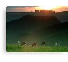 Thorpe Cloud  Sunset Canvas Print