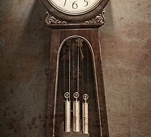 Grandfather Clock, Grunge, Antique, Vintage Style by PhotosByTrish