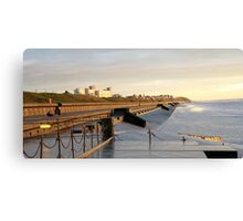 Old sea defence cleveleys Canvas Print