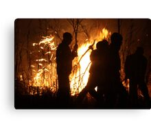 Zimbabwean Bush Fire Canvas Print