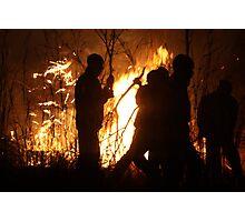 Zimbabwean Bush Fire Photographic Print