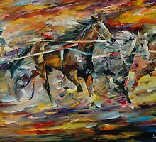 FLAMING CHARIOT - LEONID AFREMOV by Leonid  Afremov