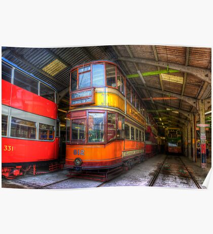 Tram 812 Glasgow Corporation Poster