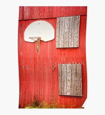 """""""Farm League"""" - basketball hoop on farm Poster"""