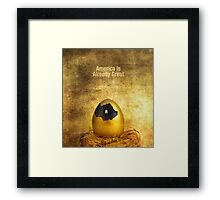 Yes It Is. Framed Print