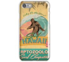 Cryptozoology Surf Competion iPhone Case/Skin