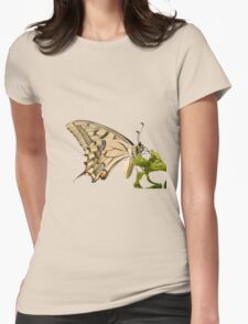 Swallowtail Butterfly Vector Isolated Womens Fitted T-Shirt