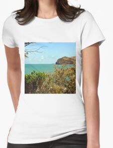 Peaceful bay view Womens Fitted T-Shirt