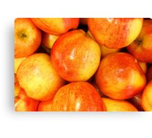 A Is For Really Vibrant Apples Canvas Print