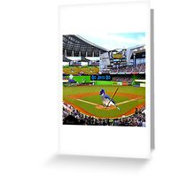 GO JAYS GO BLUEJAY BASEBALL APPAREL-PILLOW-JOURNAL-TOTE BAG-SCARF-PICTURE-ECT.. Greeting Card