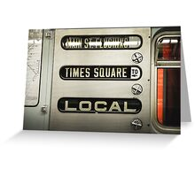 Times Square Local Greeting Card