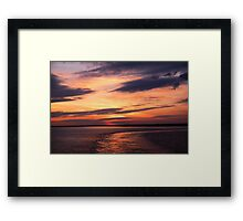 Softly The Evening Came Framed Print