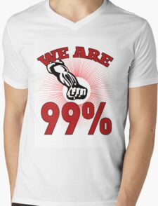 Occupy Wall Street we are 99 percent Mens V-Neck T-Shirt