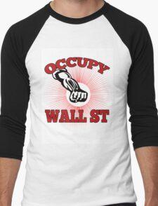 Occupy Wall Street American Worker Men's Baseball ¾ T-Shirt