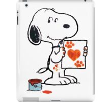painting snoopy hand iPad Case/Skin