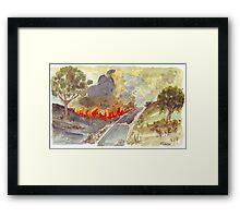 Veldfire in Magaliesburg Framed Print