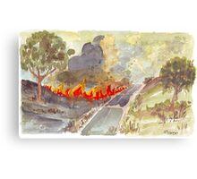 Veldfire in Magaliesburg Metal Print