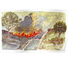 Veldfire in Magaliesburg Poster