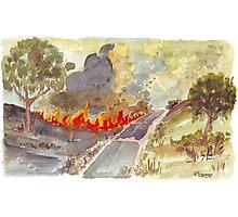 Veldfire in Magaliesburg Photographic Print
