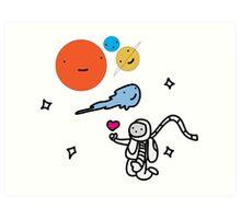 """SPACE"" Art Print"