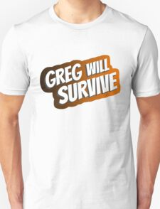 GREG WILL SURVIVE - Comic Gregs MS T-Shirt