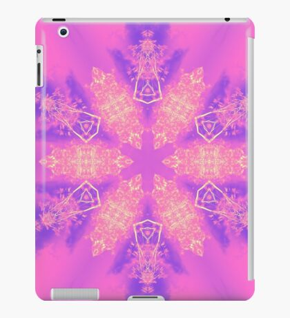 Psychedelic pink snowflake iPad Case/Skin