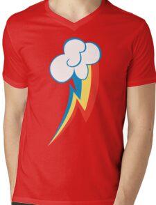 Rainbow Dash Cutie Mark Mens V-Neck T-Shirt