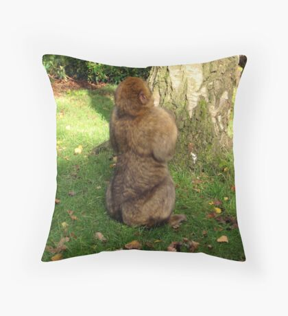 not speaking! Throw Pillow