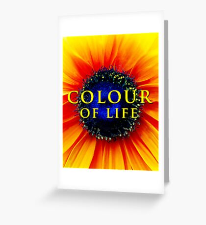 Colour of Life [cover image] Greeting Card