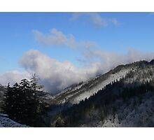 Snow On The Mountain Tops Photographic Print