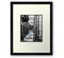 Taking a stroll in the Green House2 Framed Print