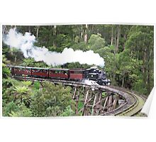 Puffing Billy over Trestle Bridge Poster