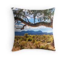 Redgum over Elder Ranges Throw Pillow