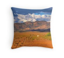 Ricketty Fence at West Wilpena Wall  Throw Pillow