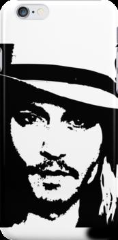 Johnny Depp iPhone Case by Lauren Eldridge-Murray