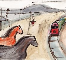 Horses at the Station by ROSEMARY EAGLE