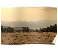 Dusty Sunset over Amata hills Poster